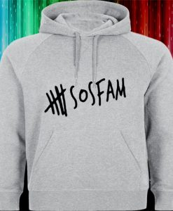 5 SOS FAM family logo Hoodies