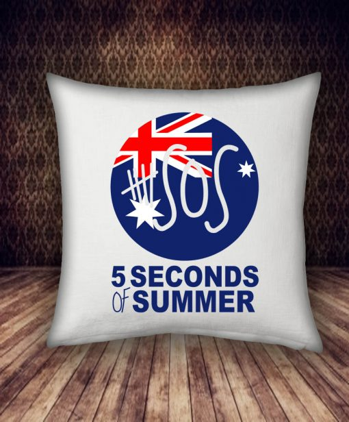 5 SOS and flag design pillow case