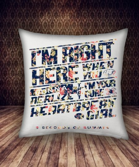 5 second of summer with flower pattern pillow case