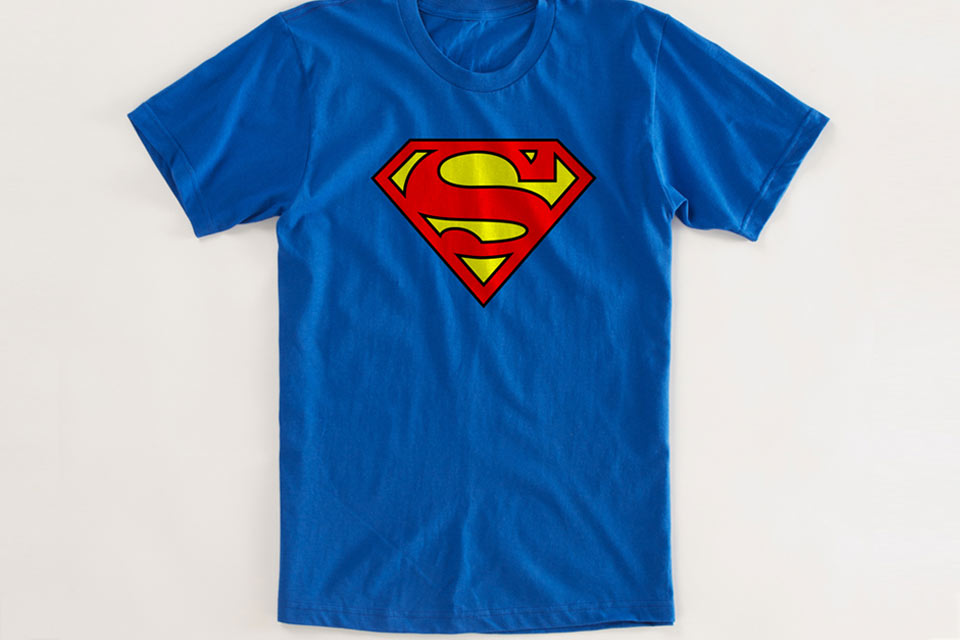 Superman Logo Tshirt Tees Unisex Adult