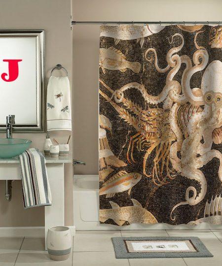 Chiswick Chap art shower curtain