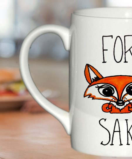 For Fox Sake Fox mug