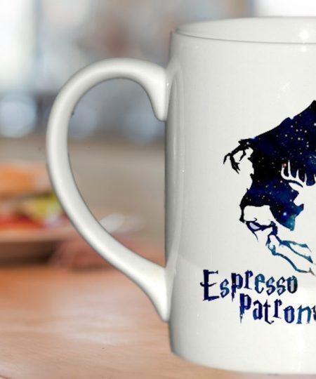 espresso patronum harry potter in galaxy mug