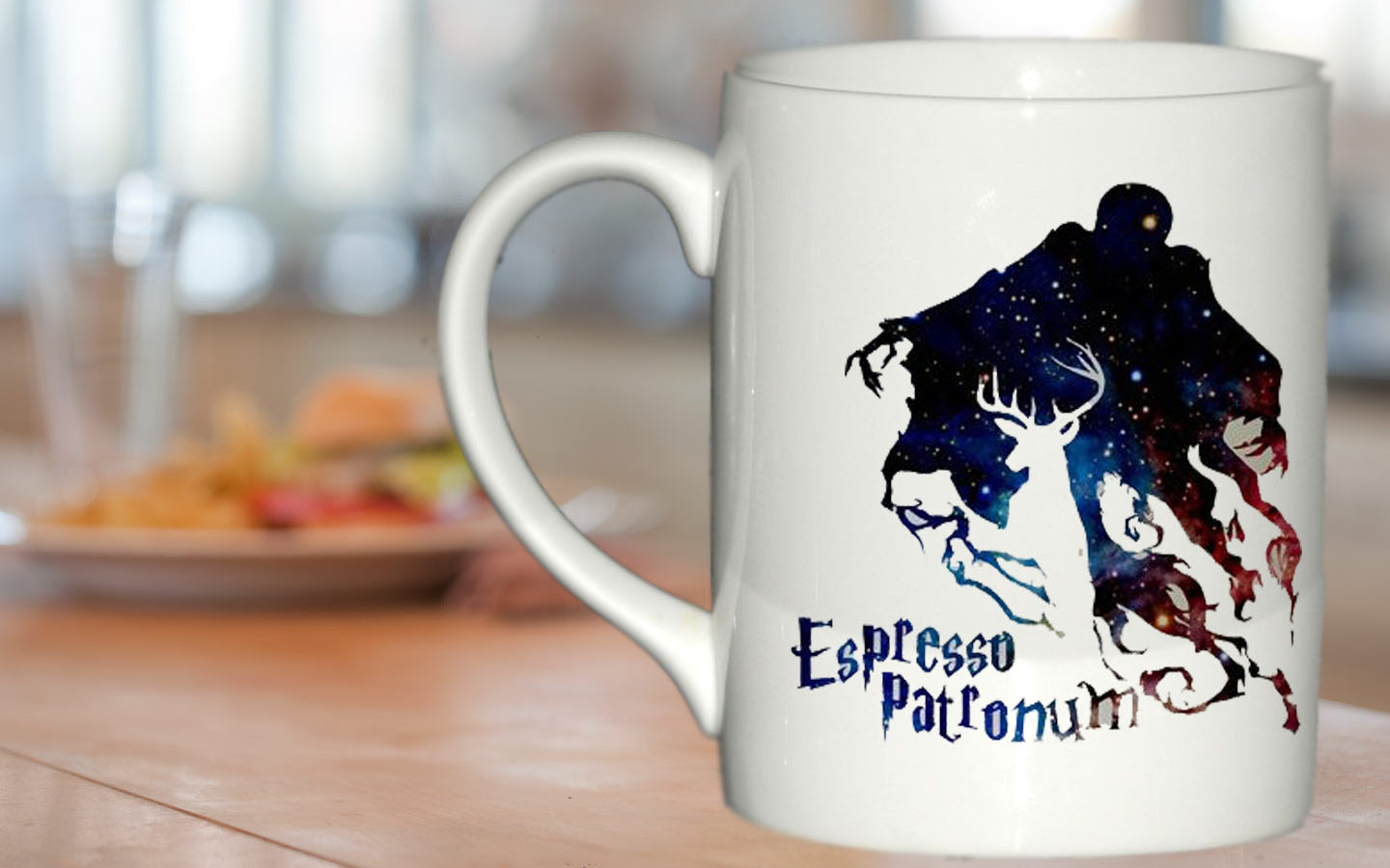 Espresso Patronum Harry Potter In Galaxy Mug