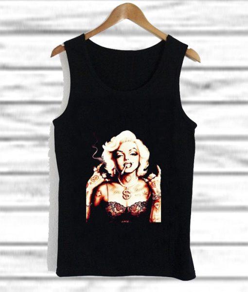 Marilyn Monroe With Tattoo tank top