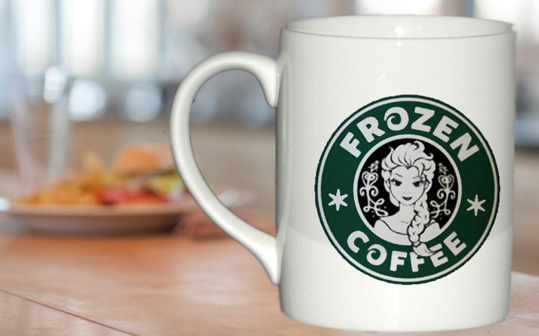 Disney Frozen Starbucks Logo Mug Gift Custom Mug Ceramic Mug