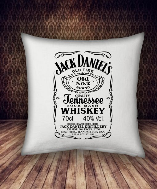 jack daniels logo pillow case
