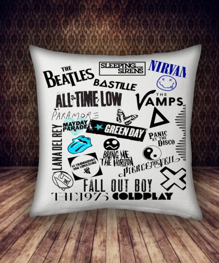 many of band pillow case