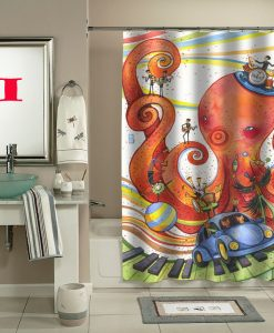 original octopus garden shower curtain