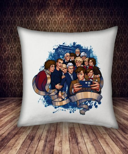 police box and people pillow case