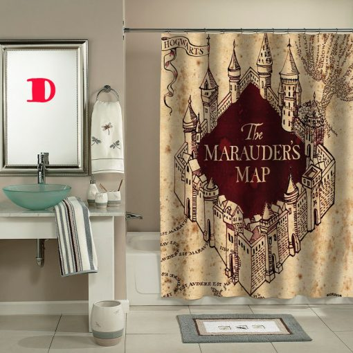 the marauders map shower curtain