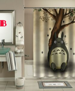 totoro cartoon movie shower curtain