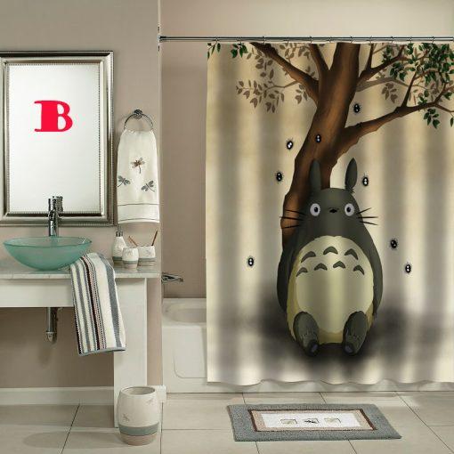 totoro cartoon movie shower curtain