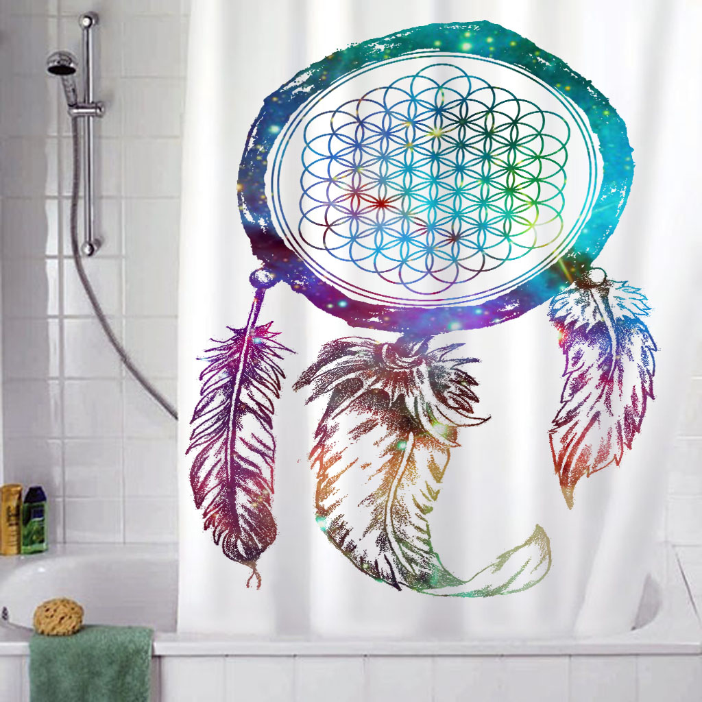 Bring Me The Horizon Dream Catcher Galaxy Shower Curtain