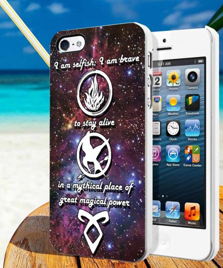Divergent, mortal instrument, and hunger game phone cases