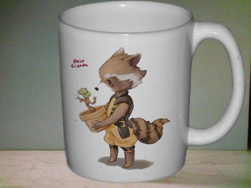 Groot and Rocket Racoon mug gift custom mug ceramic mug