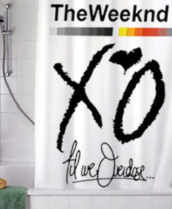 XO Weeknd Drake shower curtain