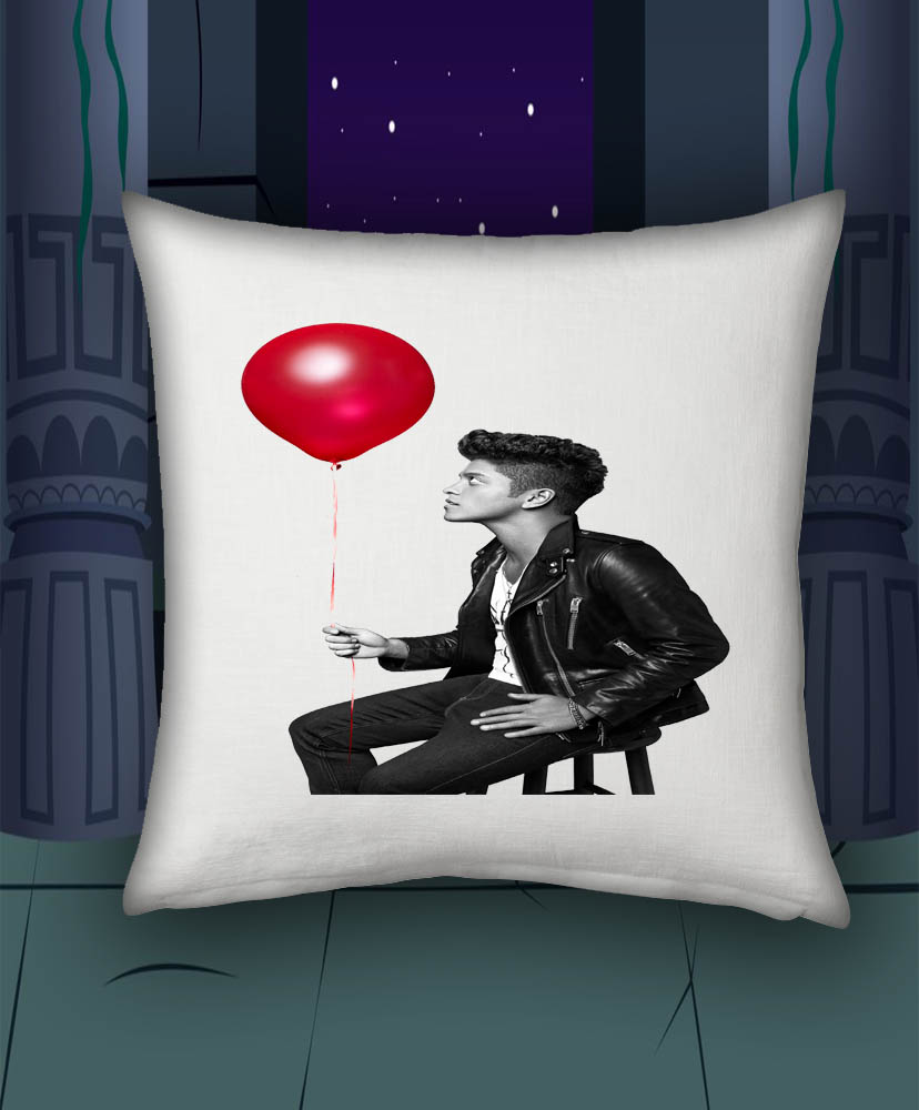 Bruno mars balloon pillow case personalized home decor for Personalized home decor