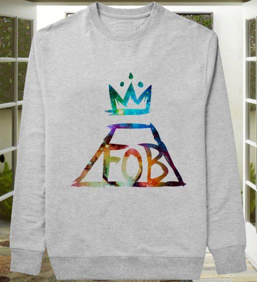 fall out boy logo galaxy sweater