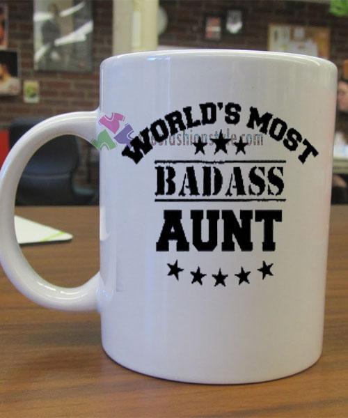 World's Most Badass Aunt mug gift