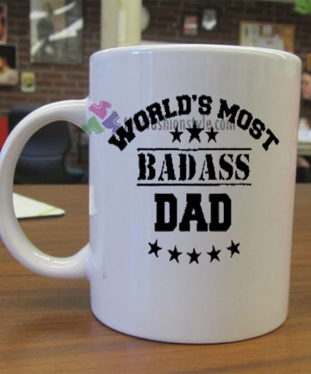World's Most Badass Dad mug gift