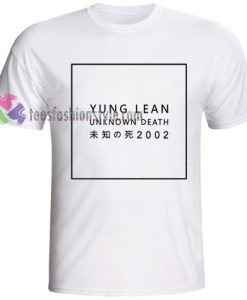 Yung Lean unknown death 2002 Tshirt