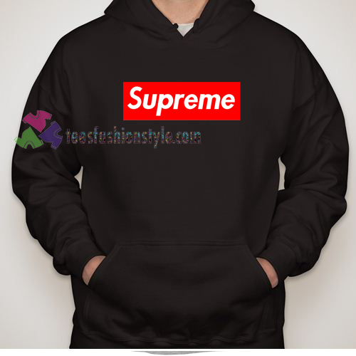 Supreme red logo Hoodies sweater hoodie unisex adult
