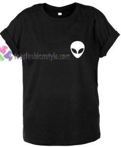 Alien head logo gift Tshirt