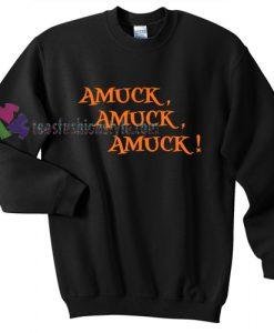 Amuck Hocus Pocus Halloween gift sweatshirt