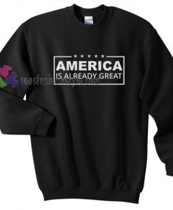 America is Already Great Hillary gift sweatshirt