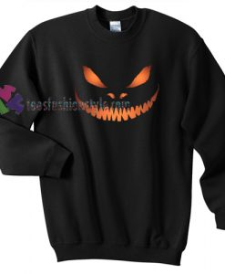 Scary Pumpkin Face Halloween gift sweatshirt