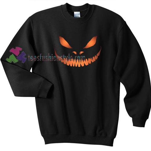 Scary Pumpkin Face Halloween gift sweatshirt