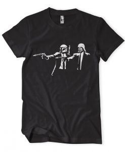 Banksy Star Wars Pulp Fiction tshirt