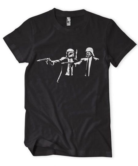 Banksy Star Wars Pulp Fiction tshirt