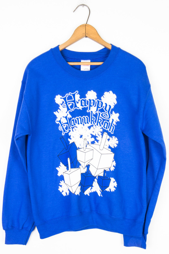 Blue Dreidel Happy Hanukkah christmas sweater gifts sweatshirt ...