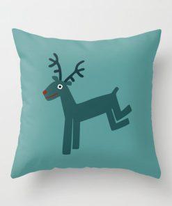 Christmas Reindeer Pillow Cover