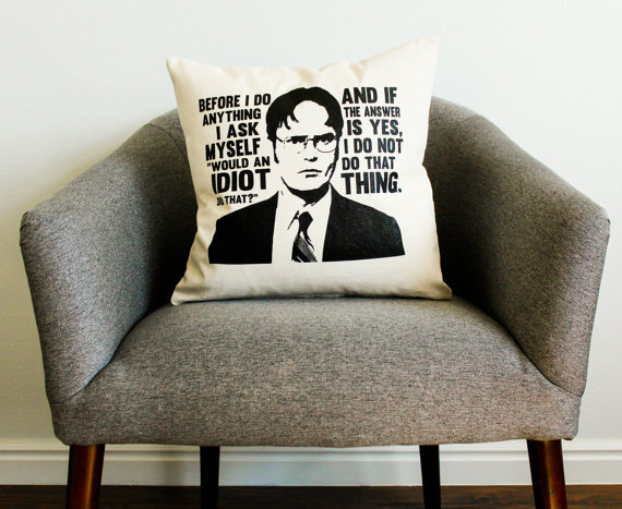 Dwight Schrute Pillow Case Personalized Home Decor Custom