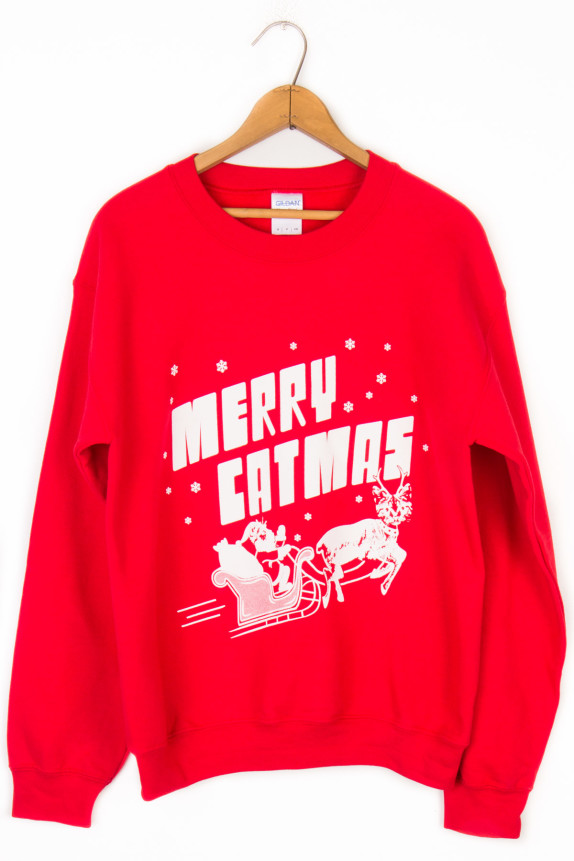 Merry Catmas Ugly Christmas Sweater