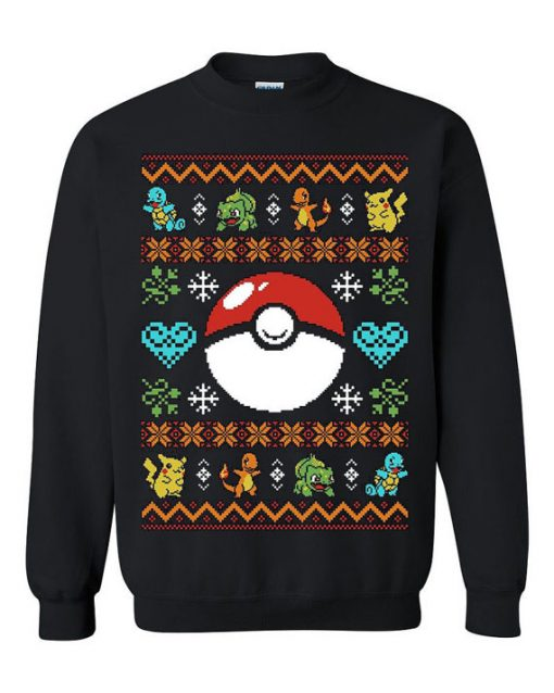 Pokemon Ball Ugly Sweater