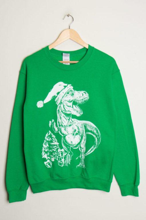 T-Rex Christmas Sweater