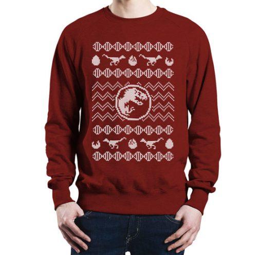 T-Rex Jurassic Park Christmas Sweater