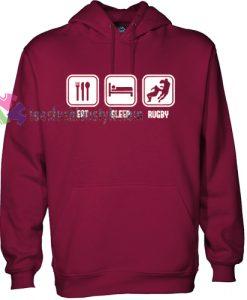Eat Sleep Rugby Hoodie gift