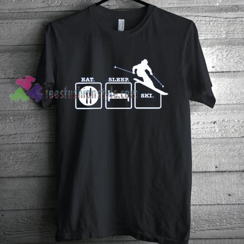 Eat Sleep Ski T-Shirt gift