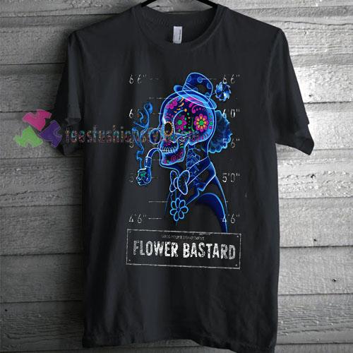 Flower Bastard EDM T-shirt gift