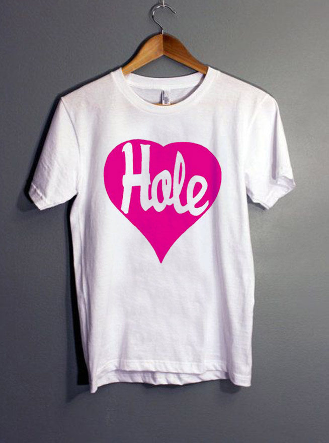 e8755ecf Hole Heart Courtney Love T-Shirt gift Tees adult unisex custom clothing