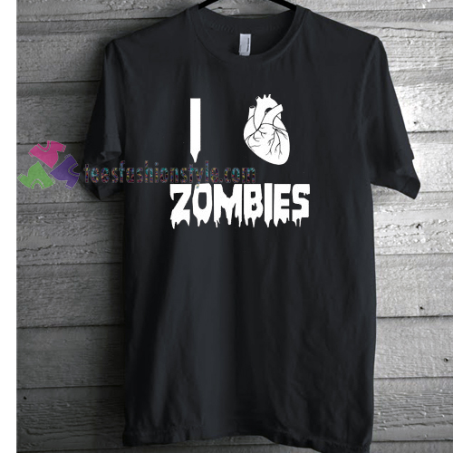 I Love Zombies T-shirt gift