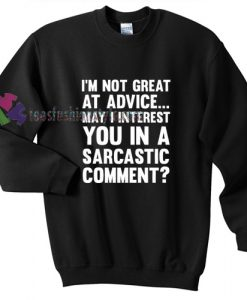 Great At Advice Sweater gift