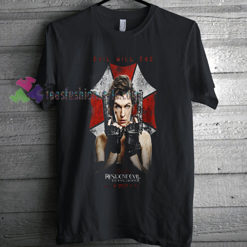 Resident Evil The Final Chapter T-shirt gift