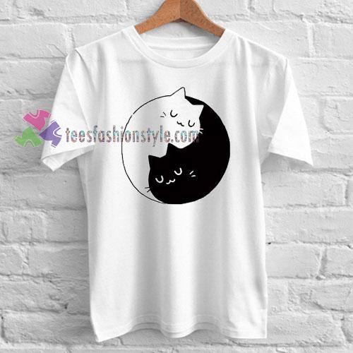 Yin Yang Cats Kittens T-shirt gift