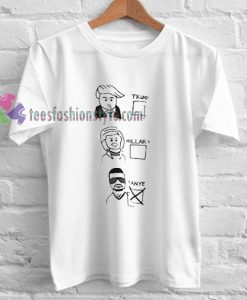 President Candidats T-shirt gift